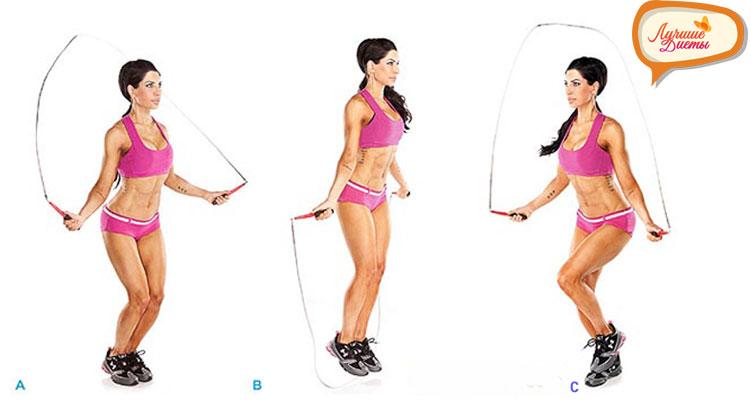 Скакалка. Упражнения для живота